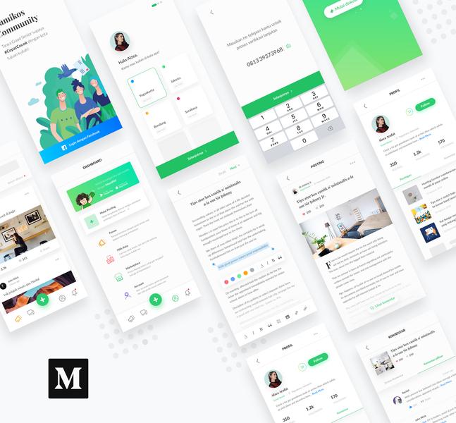 #Article - Mamikos Community App card minimalism minimal community blog forum clean white mobile app app ios app design flat ux ui