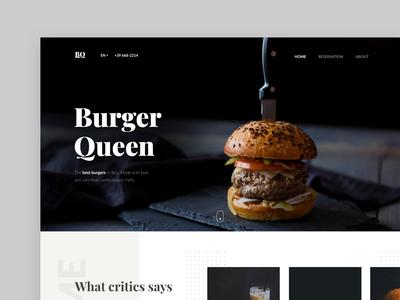 Restaurant Landing Page Concept - #VisualExploration