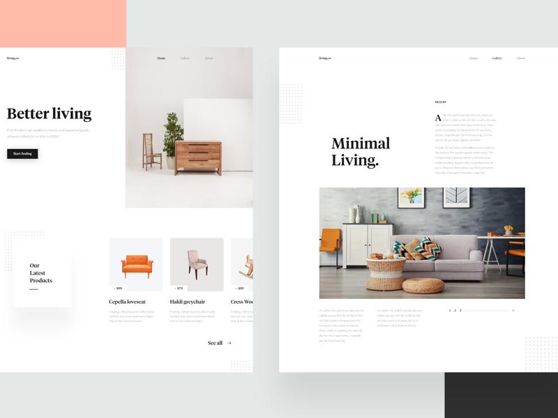 Minimal landing page — #VisualExploration uiux ui ui design web design web white clean minimalist minimalism minimal landing page
