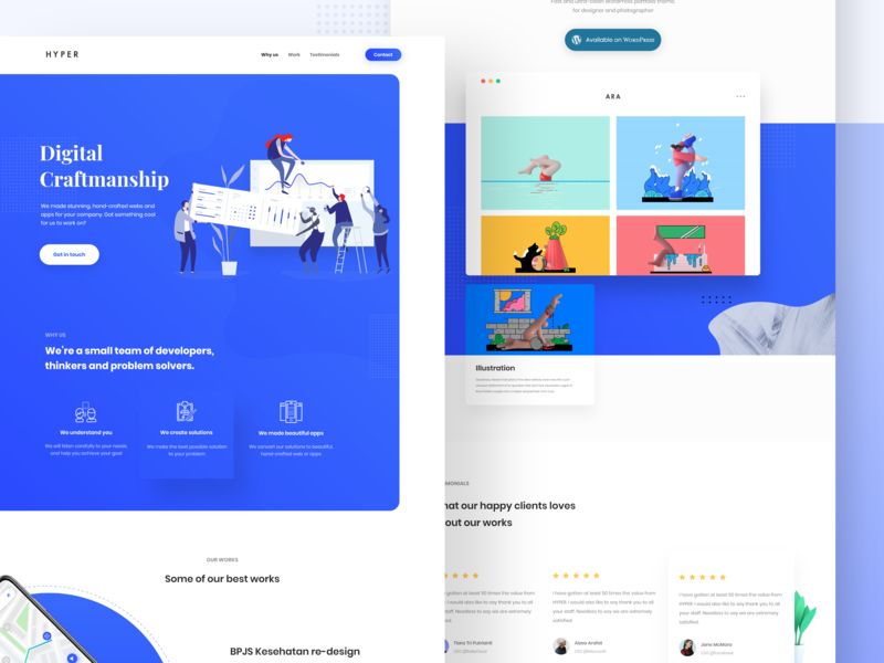Design Agency Landing Page - #VisualExploration typogaphy web design clean website homepage bold big pastel contrast color white blue illustration gradient minimal web flat landing page ui