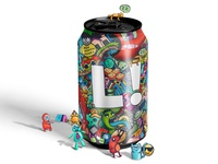 Doodle art on can