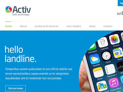Activ Telecom activ telecom navigation menu login telephone neo sans iphone