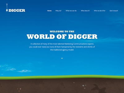 Digger digger logo navigation illustration sky soil grass
