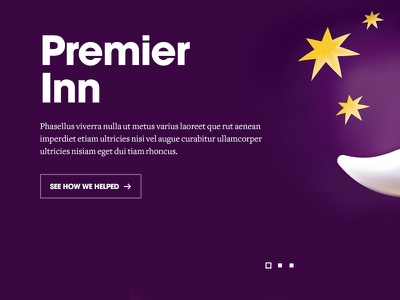 Sneak peak avant garde freight text premier in purple agency pagination button call to action