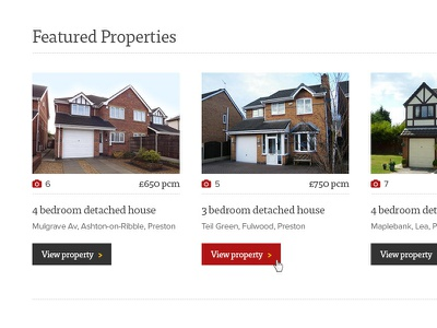 Featured properties website redesign web design responsive featured estate agent letting agent