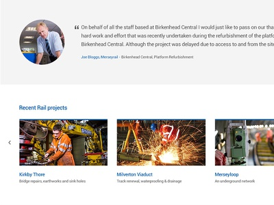 Inner Page testimonial recent projects quote blockquote carousel