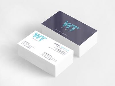 WT Business Card design sri lanka clean business card simple business card stationery design corporate identity business card