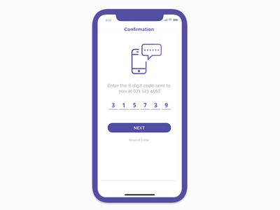 Confirmation Screen - App UI