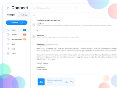 Dashboard - Messages + Task List