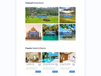 Hotel Booking Website Concept rooms destinations hotel rooms 2020 trend green india vietnam website landing page web design ux ui travel sri lanka hotel search hotel booking happy new year 2020 colorful clean