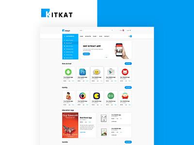 KITKAT App E-Commerce HTML5 Template htmlmate html template app e-commerce template app store