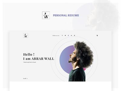 Personal Cv/Resume personal vcard portfolio design curriculum vitae resume personal cv minimal portfolio