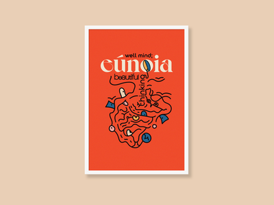 Eúnoia poster a day words poster drawing typography art illustration design concept