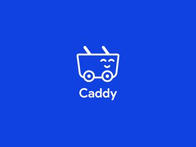 Caddy vector graphic design graphic flat blue app icon clean concept design illustrator logo branding illustration