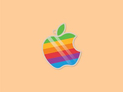 Retro Apple Charm sticker logo apple design vintage vector popular trending graphics stickermule playoff oldskool retro charm apple illustration