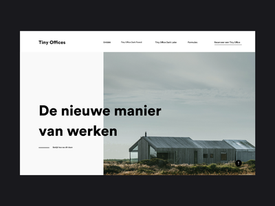 Tiny Offices homepage popular white modern website simple concept clean minimal web design ux ui