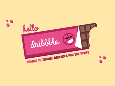 Hello Dribbble! chocolatebar first illustration invite vector debutshot firstshot