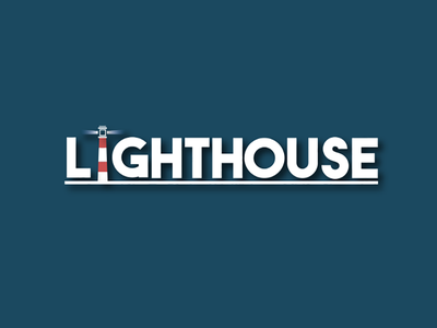 Lighthouse Word Illustration design vector flatdesign lighthouse wordicon ux ui illustrator