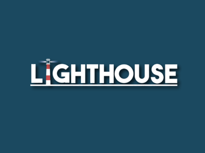Lighthouse Word Illustration design vector flatdesign lighthouse wordicon ux ui illustrator