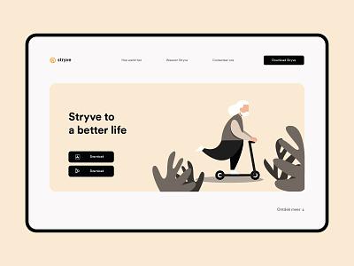 Stryve Concept popular clean web design web branding graphic design minimal design illustration vector ux ui concept