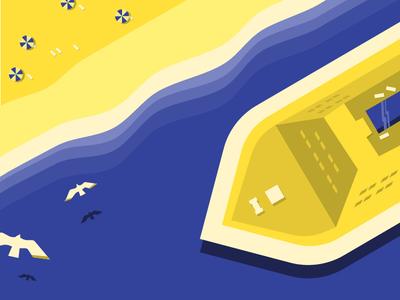 Sea Side Illustration