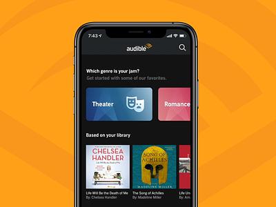 Audiobook Genre Quiz animation tile book phone mobile illustration app ios icon genre audiobook quiz