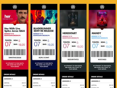 Alamo Drafthouse Ticket Concept cinema drafthouse alamo email concept movie ticket