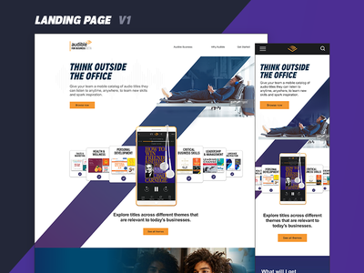 Audible For Business Landing Page Concept newark landing page e commerce
