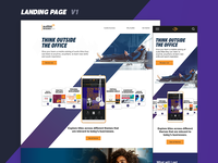 Audible For Business Landing Page Concept
