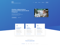 Modern landing page for education