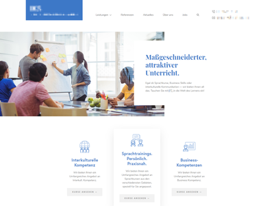 Landing page of my current project blue font modern hero header white page landing landing page