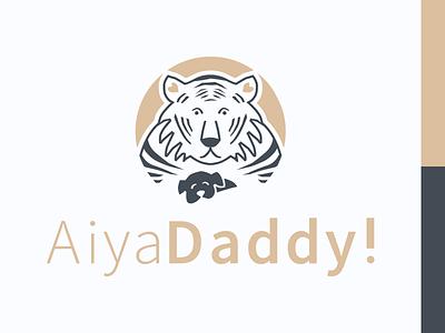 Tiger and puppy animal logo puppy tiger vector illustration illustrator logo logotype