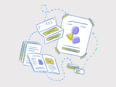 Graphic design illustration graphic design yellow purple blue procreate illustration graphic designer