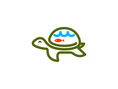 Turtle & Fish