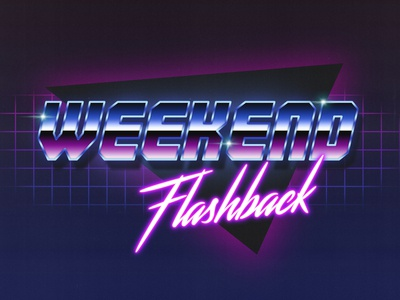 New retro wave text effect