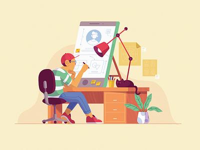 Design Thinking design studio design character web ui ux web design blog illustration fireart studio fireart