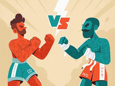 Web Design vs. Graphic Design design ui ux web design blog illustration fireart studio fireart