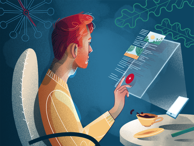 Floating buttons web design web ux ui news illustration flat fireart studio fireart blog article