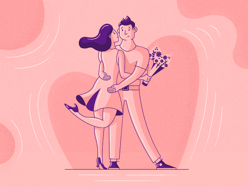Get together love design art character illustration flat fireart fireart studio