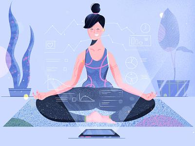 Health App web design web ux ui news illustration flat fireart studio fireart blog article