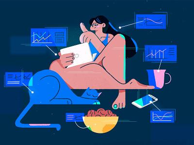 Machine Learning graphic design web ui ux web design article blog illustration fireart studio fireart