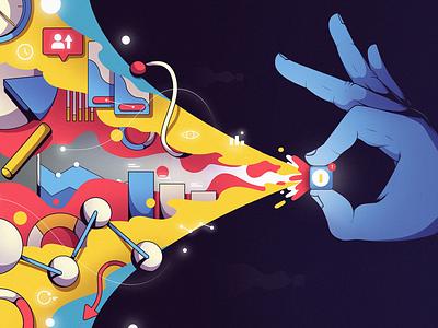 7 Metrics For Faster Mobile App Success news web design article blog illustration fireart studio fireart