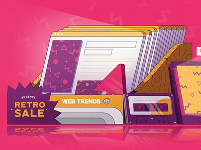 Retro Web Design Trends design web ui ux article web design blog illustration fireart studio fireart