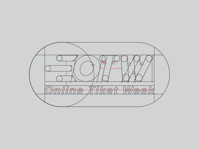 OTW: Online Tiket Week (process notes) branding graphic design logo design
