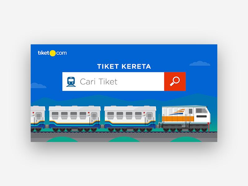 tiket.com train product - searchbox vector branding graphic design illustration