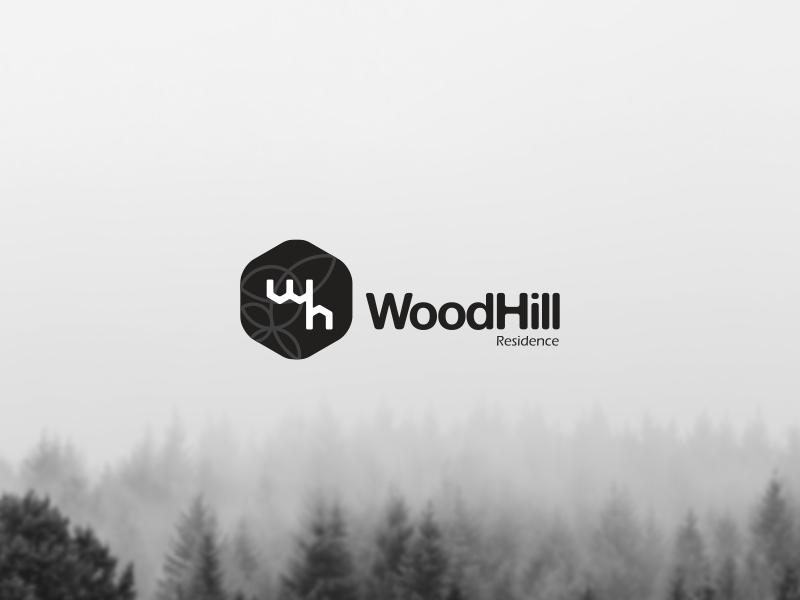 WoodHill Residence (logomark & logotype option) logo branding graphic design