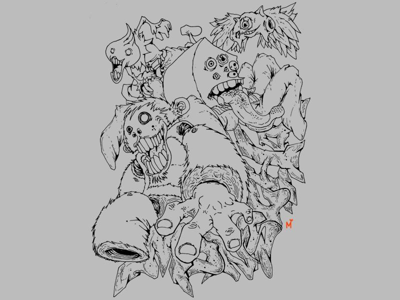 Monscha Pose characterdesign sketching illustration