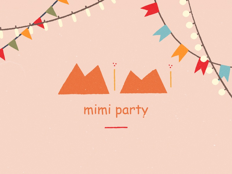 Mimi Party — Cover animation haby invitation editorial book colors party bodymovin svg web illustration children child theme animals happy ribbons mimi art invite characters illustration