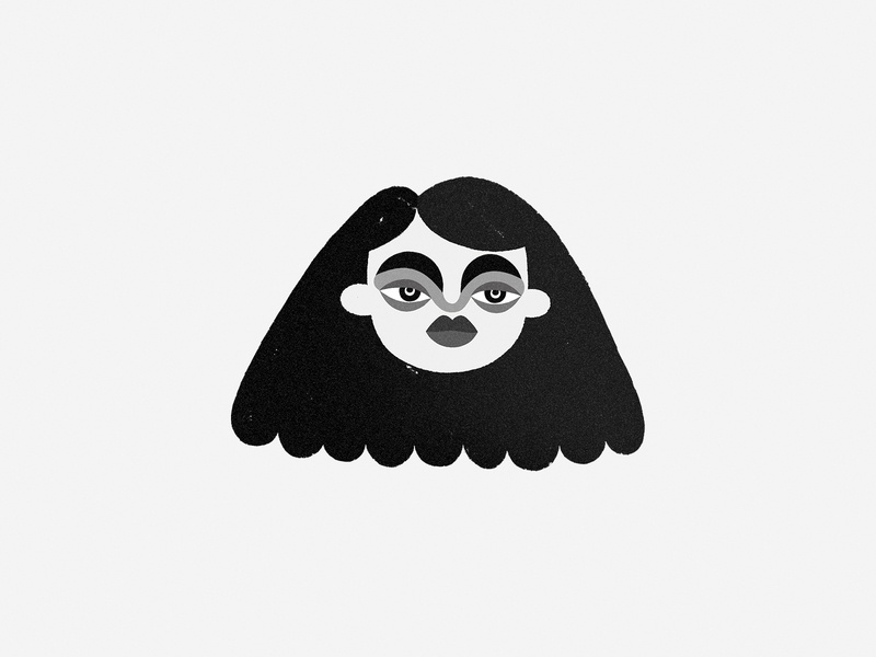 B. / W. — Girl ux ui aftereffects shot game black  white happy children book character children 2d design animation colors haby invitation invite art characters illustration