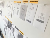 Mobile App Wireframe Flows